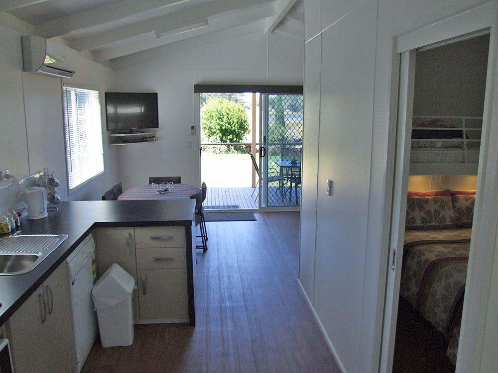 Pelican Waters Accessible Villa kitchen and dining area