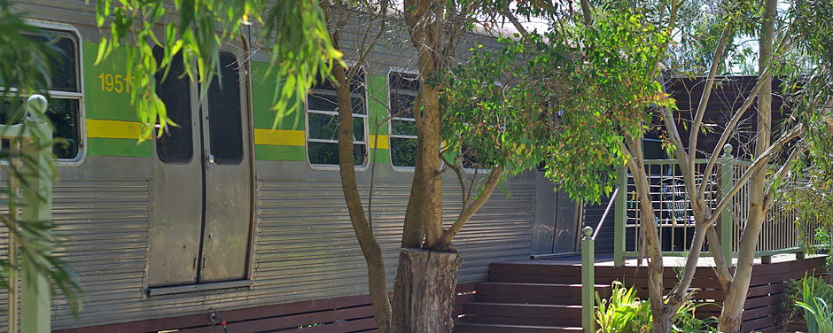 Pelican Waters Train Carriage accommodation